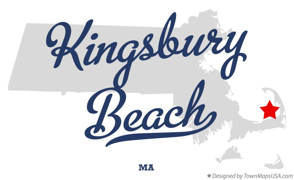 Map of Kingsbury Beach Massachusetts MA