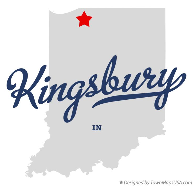 Map of Kingsbury Indiana IN