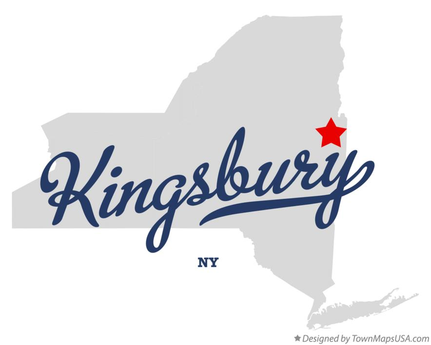 Map of Kingsbury New York NY