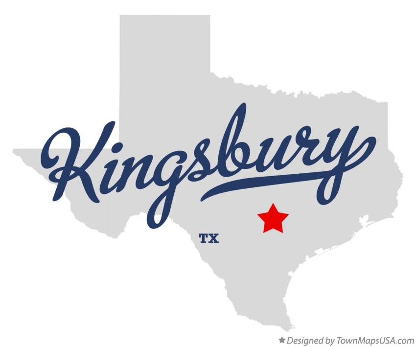 Map of Kingsbury Texas TX