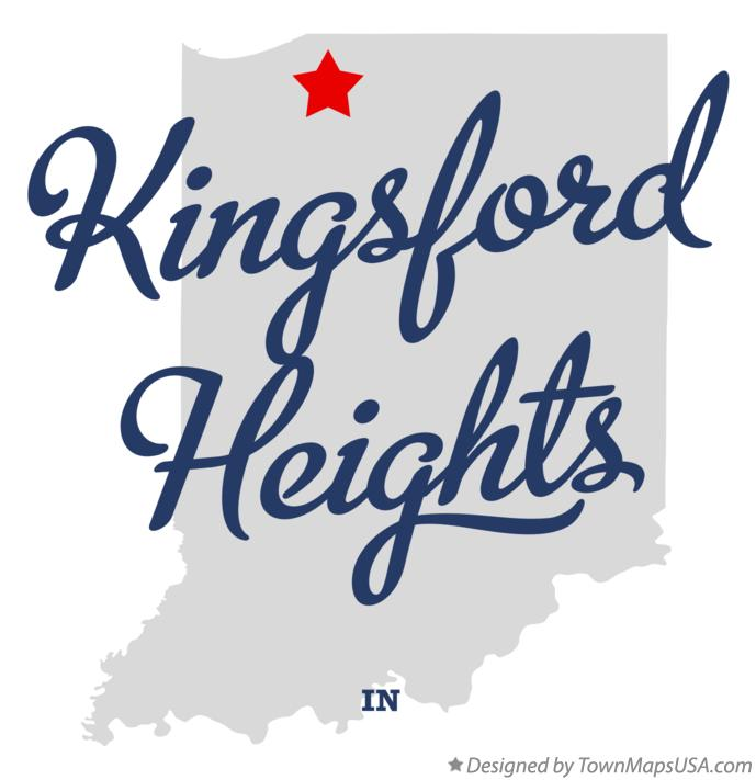 Map of Kingsford Heights Indiana IN
