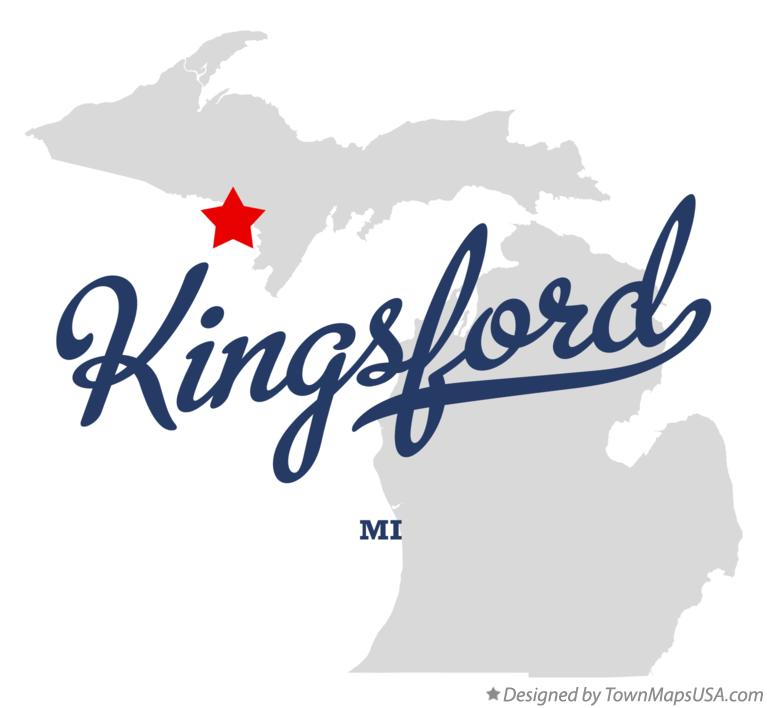 Map of Kingsford Michigan MI