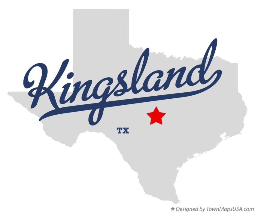 Map of Kingsland Texas TX