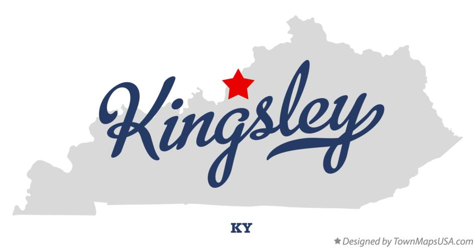 Map of Kingsley Kentucky KY