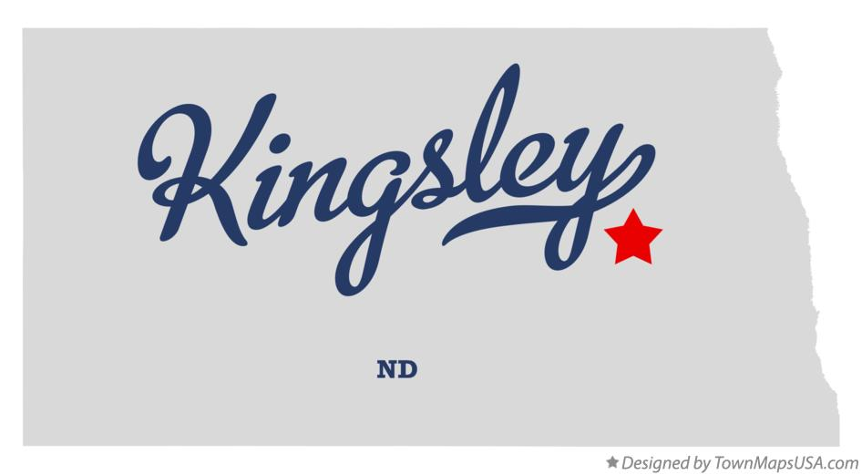 Map of Kingsley North Dakota ND
