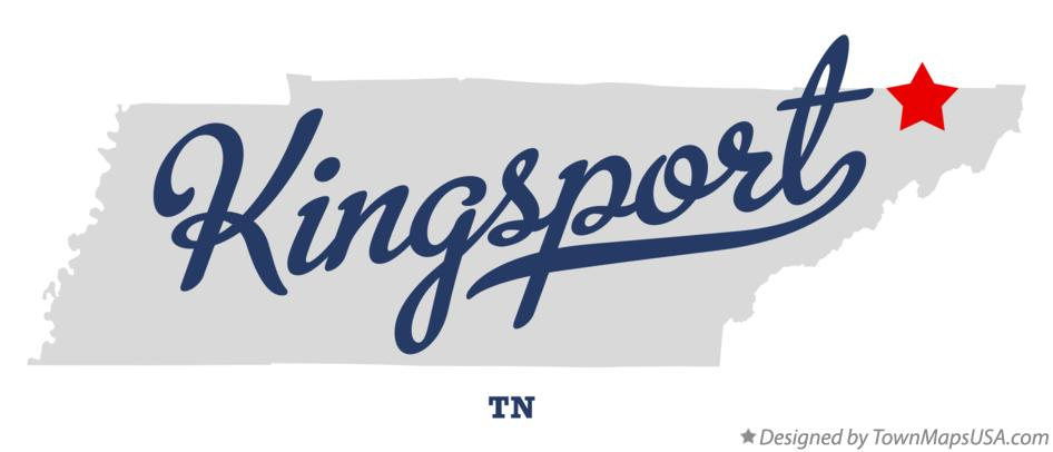 Map of Kingsport TN Tennessee