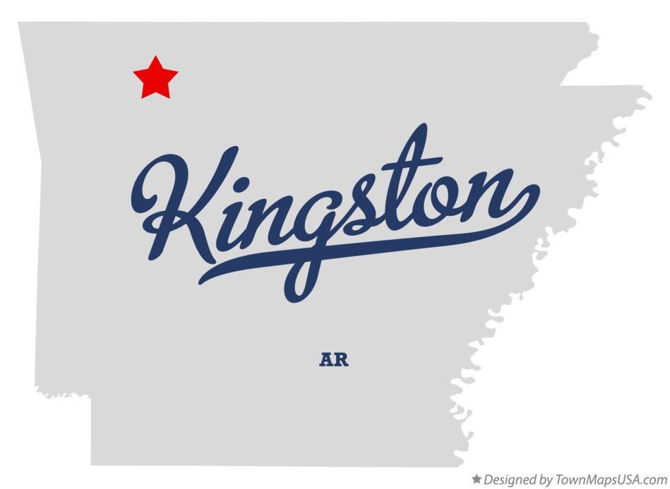 Map of Kingston Arkansas AR