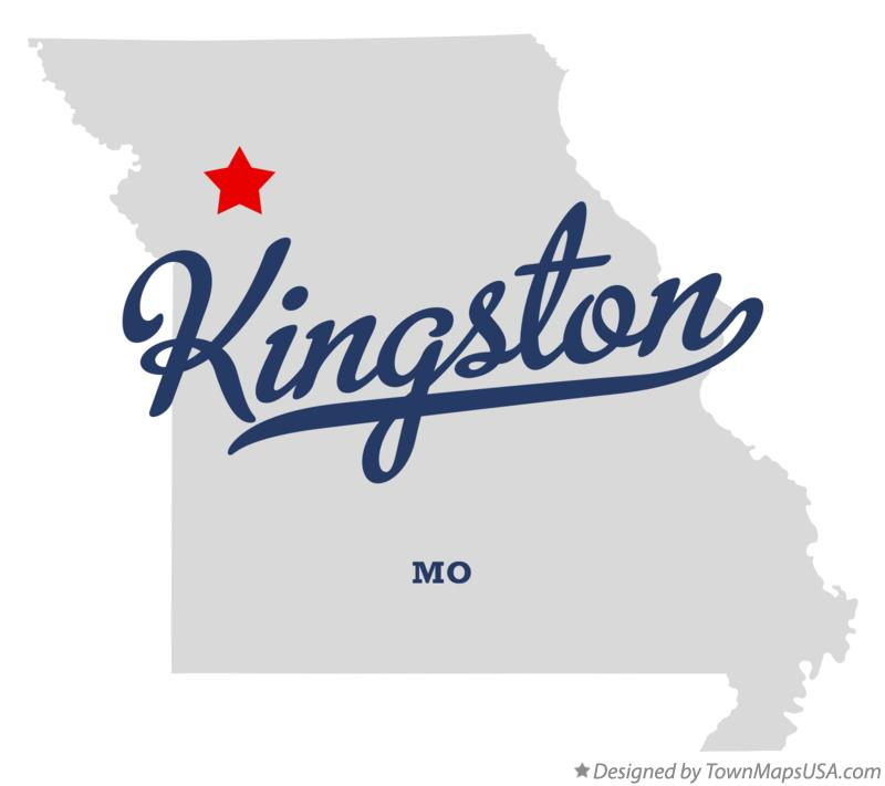 Map of Kingston Missouri MO