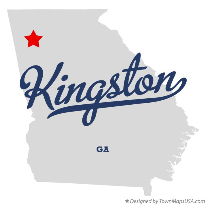 Map of Kingston Georgia GA