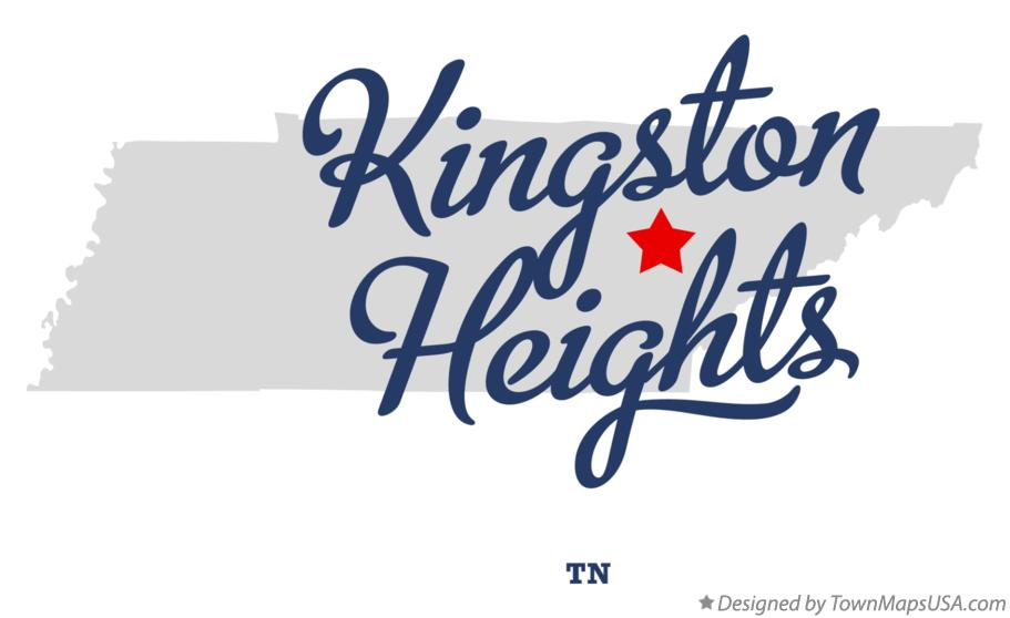 Map of Kingston Heights Tennessee TN