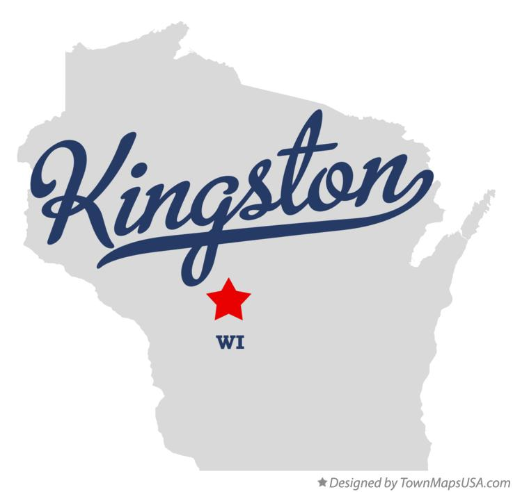 Map of Kingston Wisconsin WI