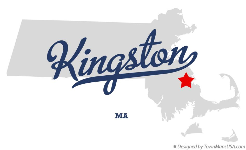 Map of Kingston Massachusetts MA