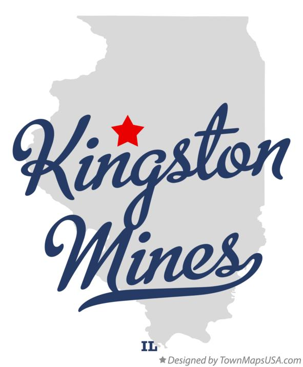 Map of Kingston Mines Illinois IL