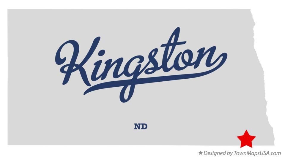 Map of Kingston North Dakota ND