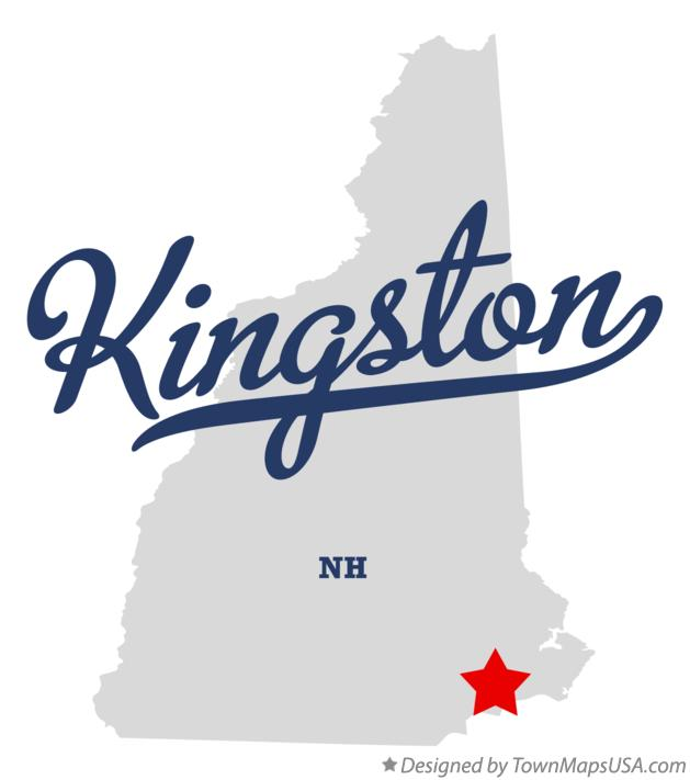 Map of Kingston New Hampshire NH