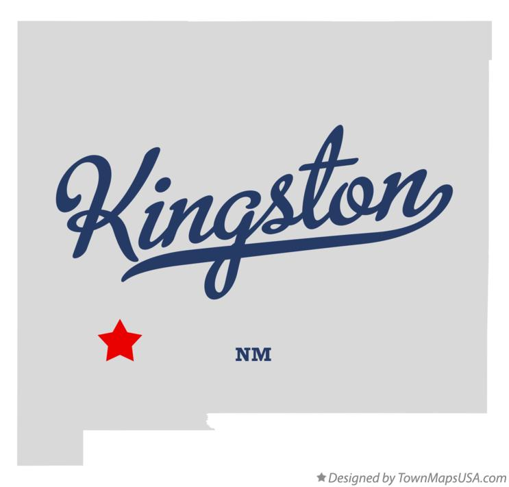 Map of Kingston New Mexico NM