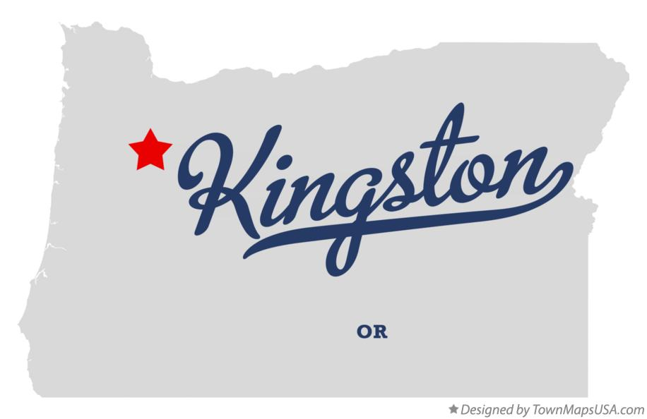 Map of Kingston Oregon OR