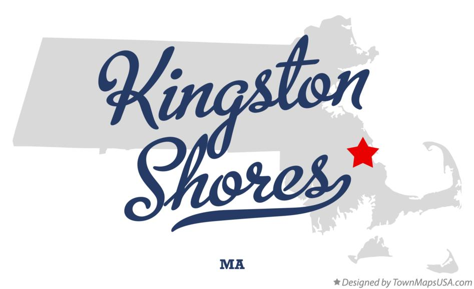 Map of Kingston Shores Massachusetts MA