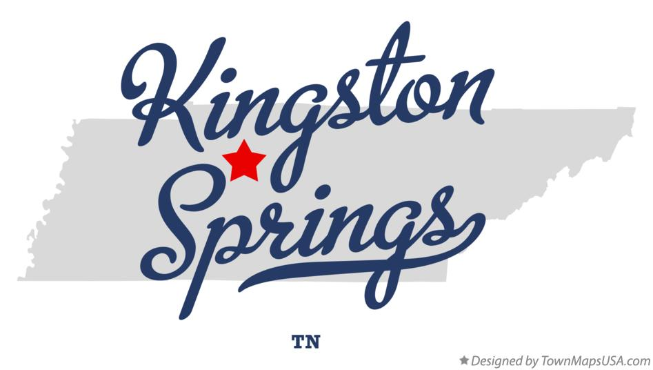 Map of Kingston Springs Tennessee TN