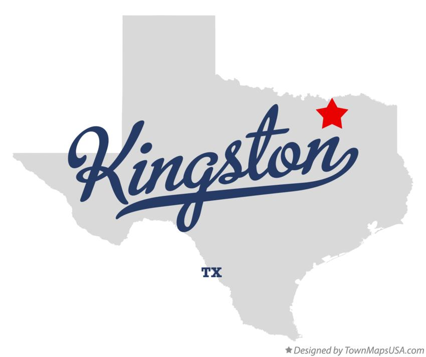 Kingston Tx Map Map of Kingston, TX, Texas
