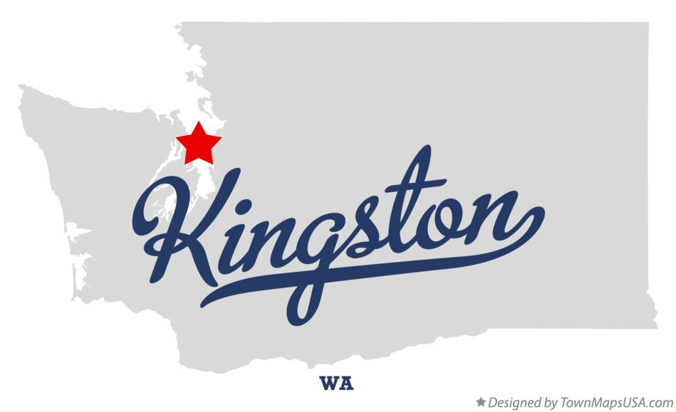 Map of Kingston Washington WA