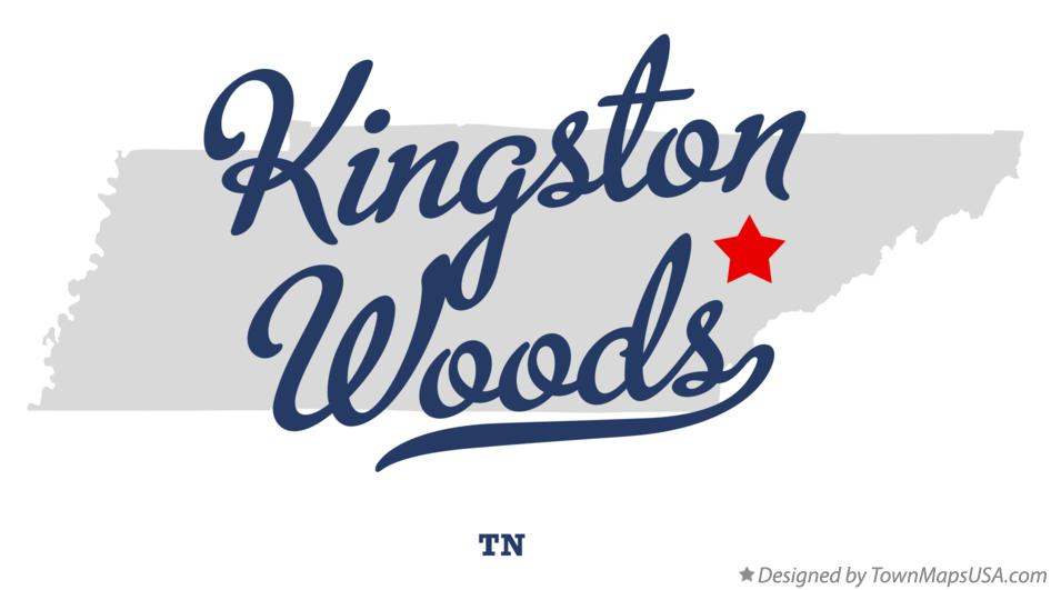 Map of Kingston Woods Tennessee TN
