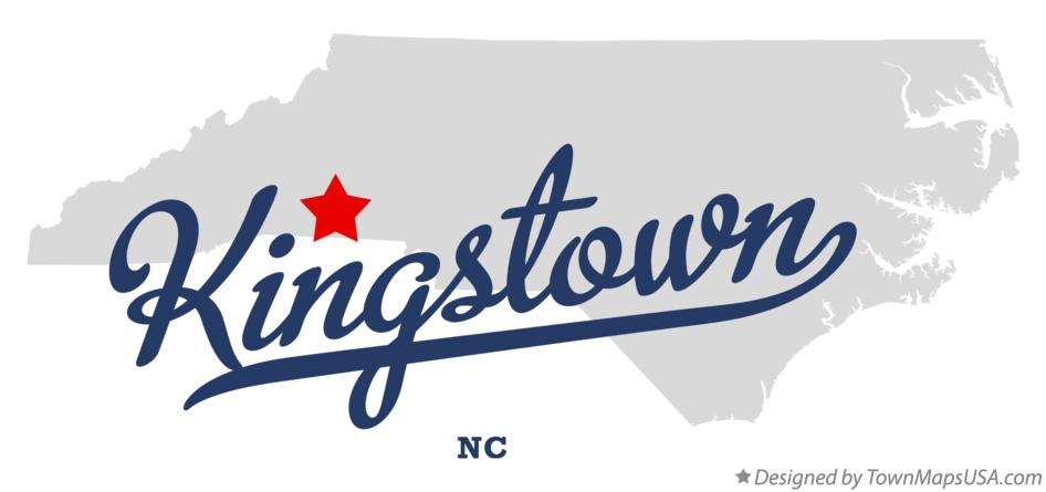 Map of Kingstown North Carolina NC
