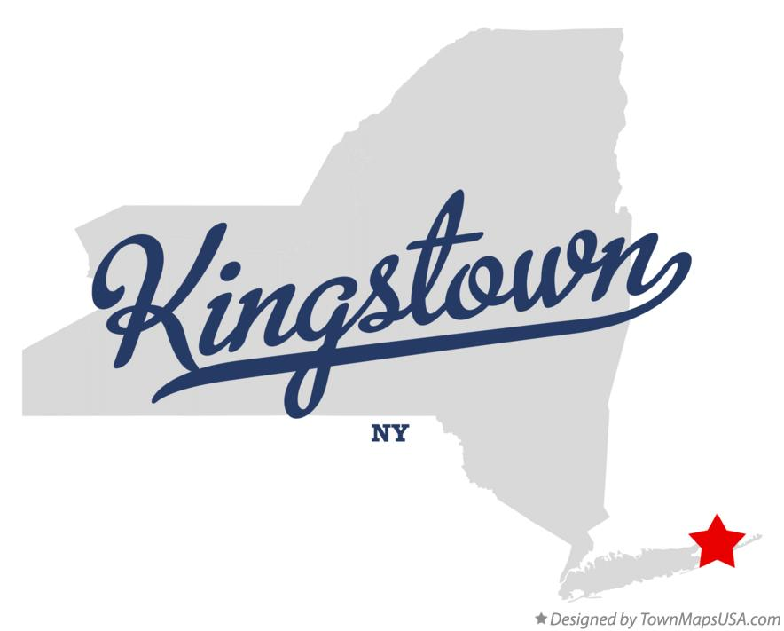 Map of Kingstown New York NY