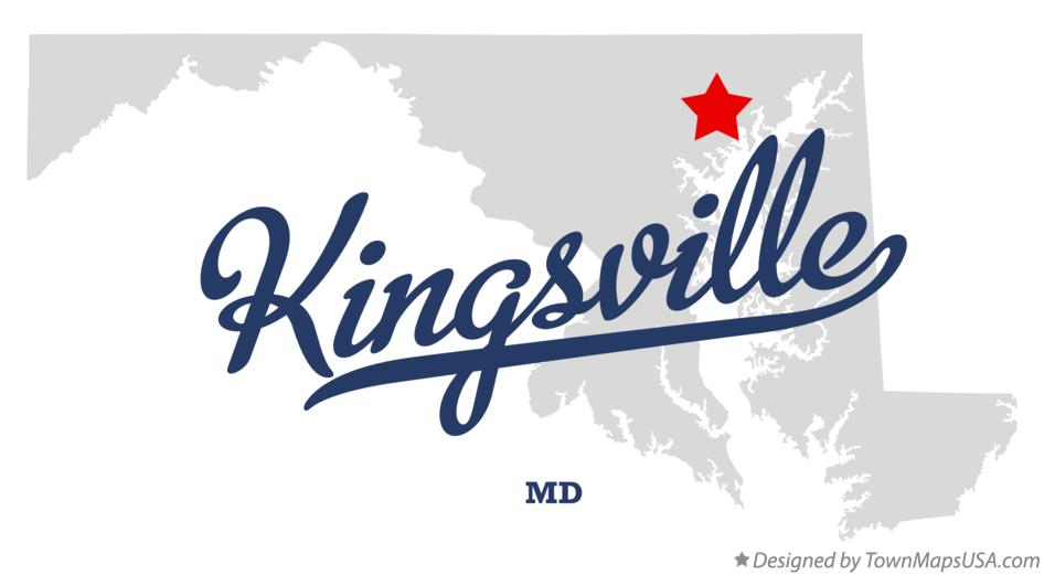 Map of Kingsville Maryland MD