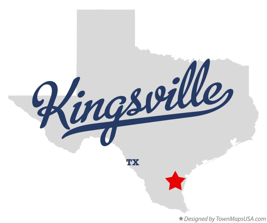 Map of Kingsville Texas TX