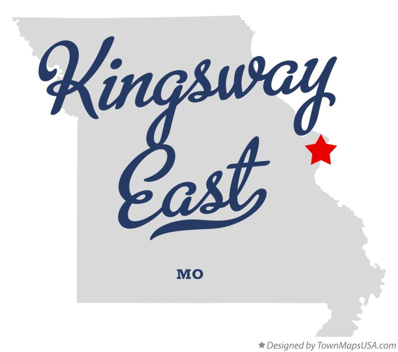 Map of Kingsway East Missouri MO