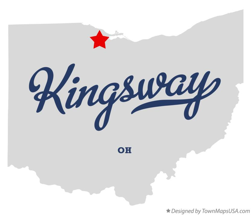 Map of Kingsway Ohio OH