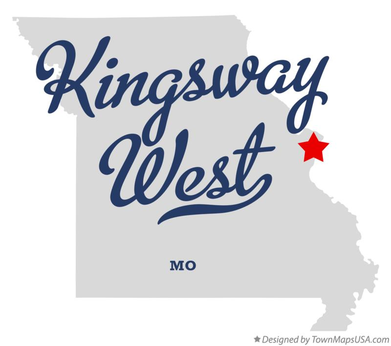Map of Kingsway West Missouri MO