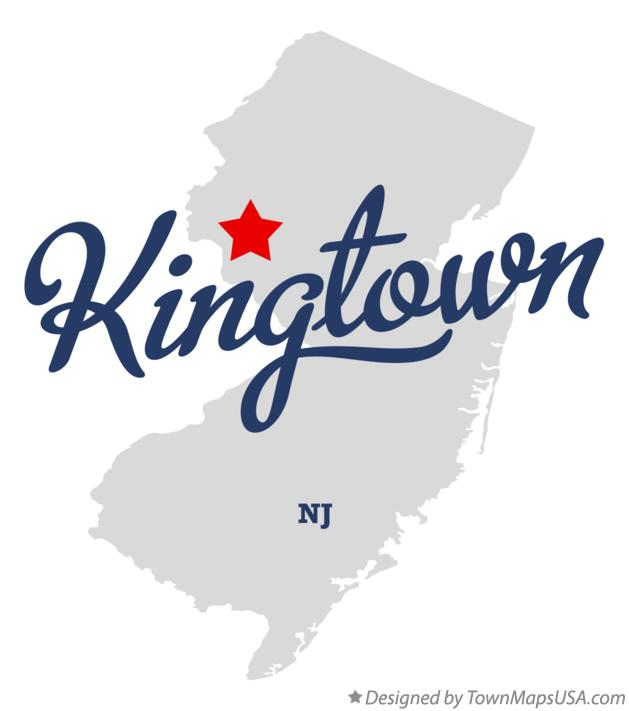 Map of Kingtown New Jersey NJ