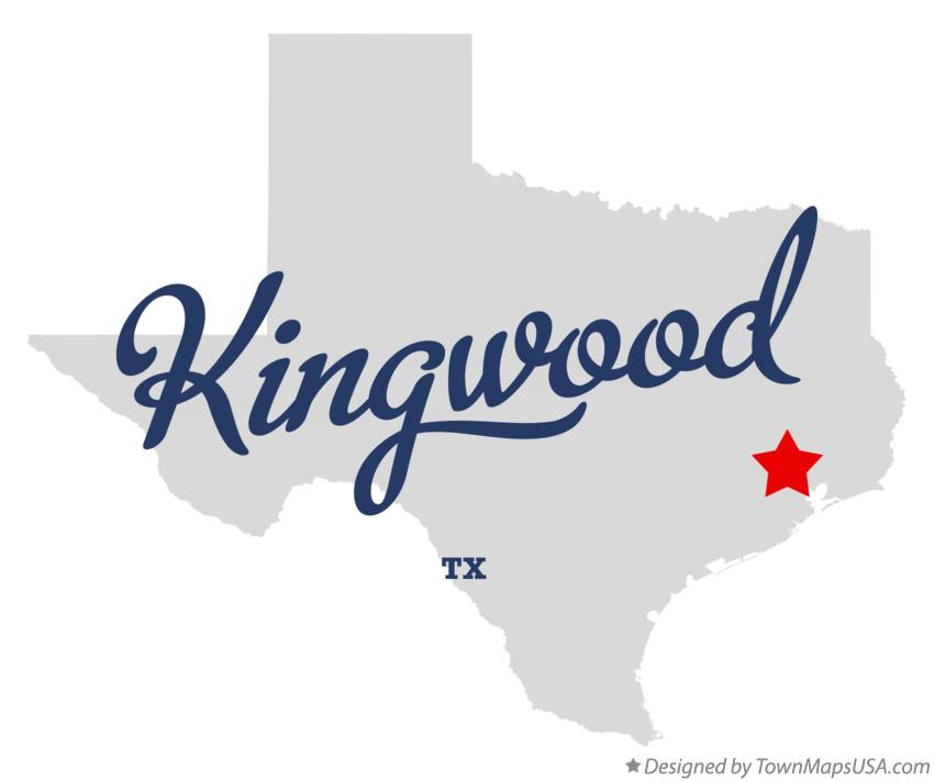 Map of Kingwood Texas TX