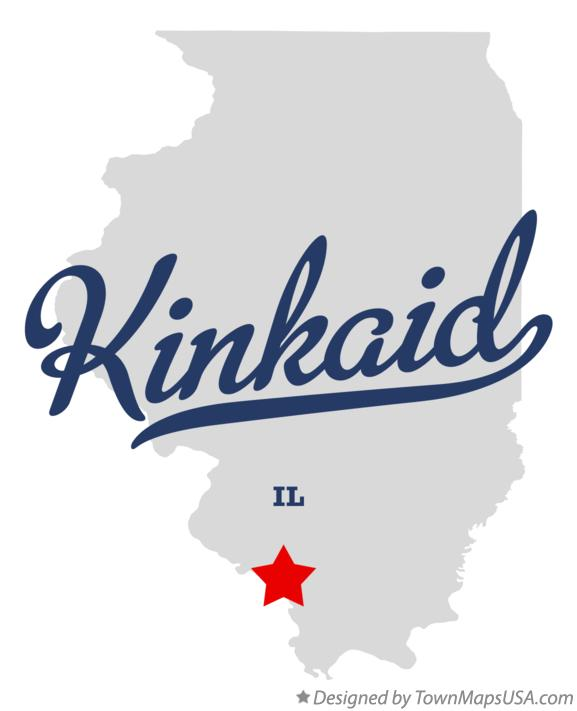 Map of Kinkaid Illinois IL