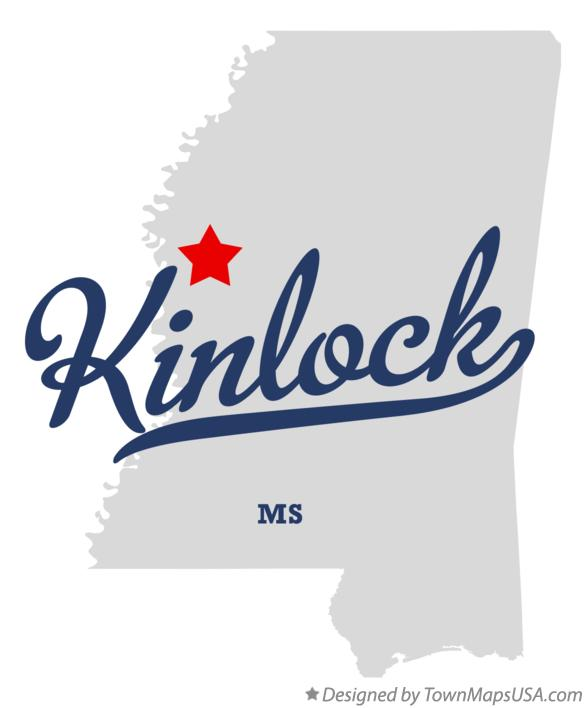 Map of Kinlock Mississippi MS