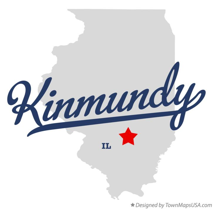 Map of Kinmundy Illinois IL