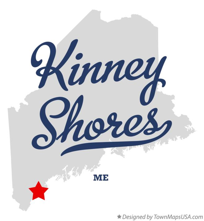 Map of Kinney Shores Maine ME
