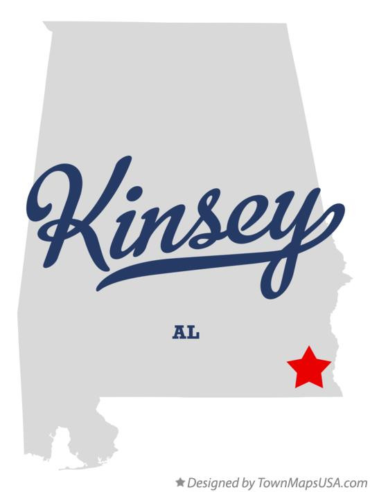Map of Kinsey Alabama AL