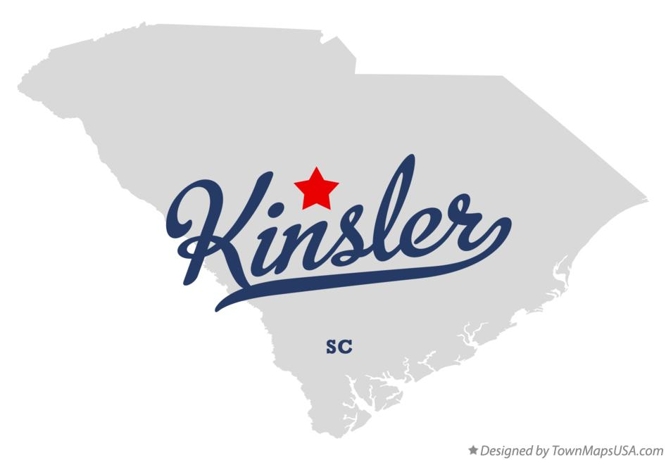 Map of Kinsler South Carolina SC