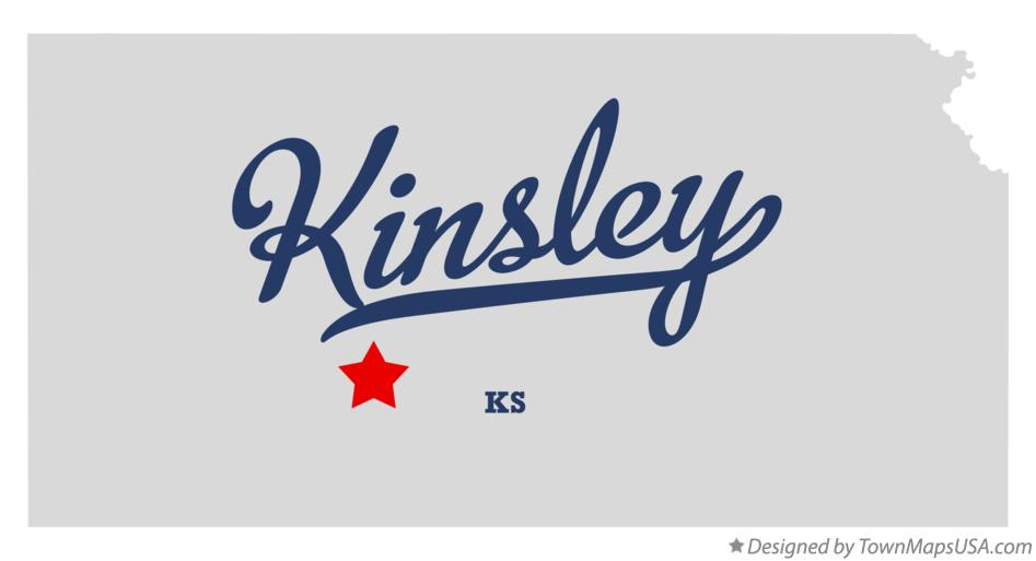 Map of Kinsley Kansas KS
