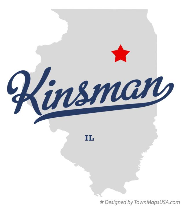 Map of Kinsman Illinois IL