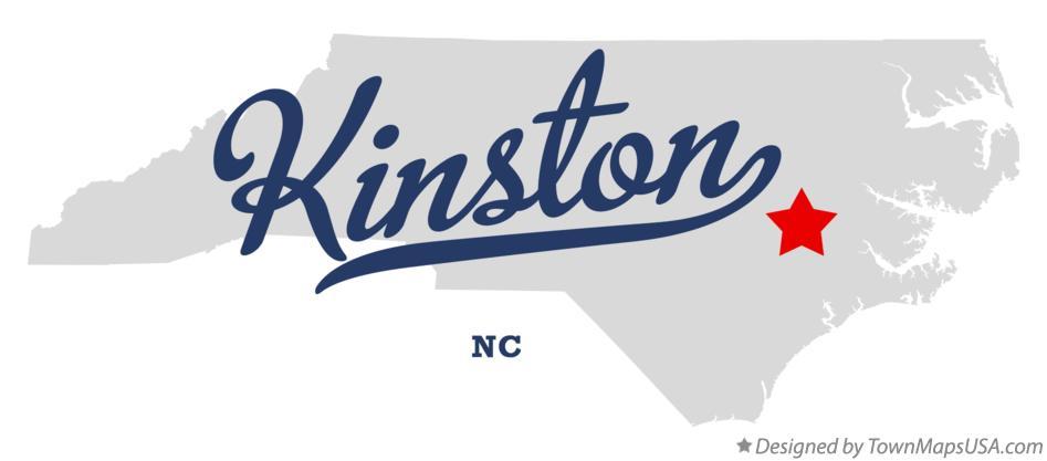 Map Of Kinston Nc North Carolina