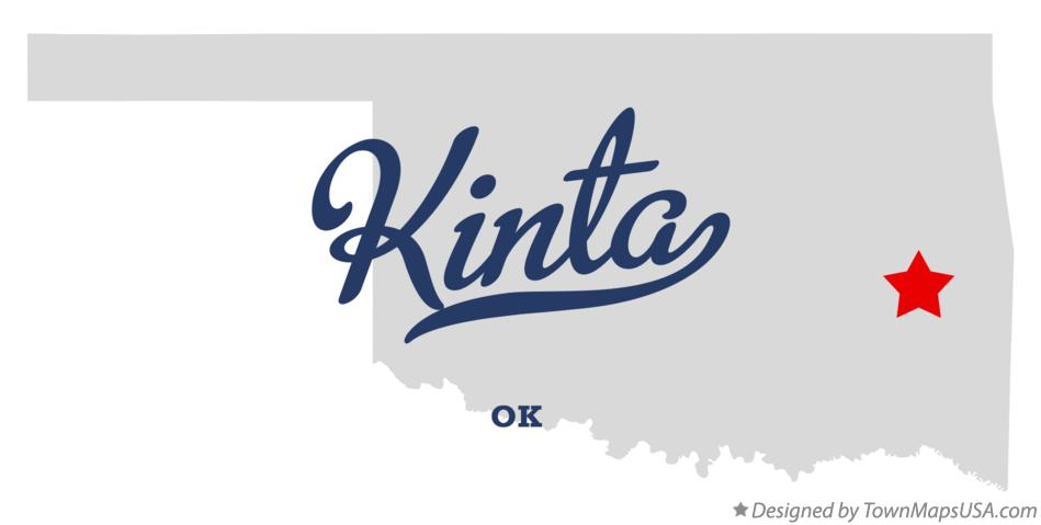 Map of Kinta Oklahoma OK