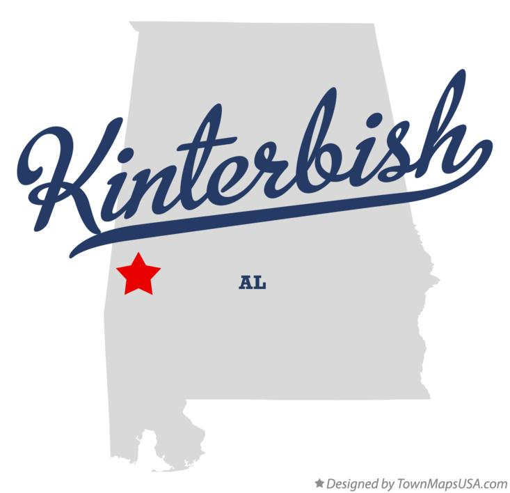 Map of Kinterbish Alabama AL