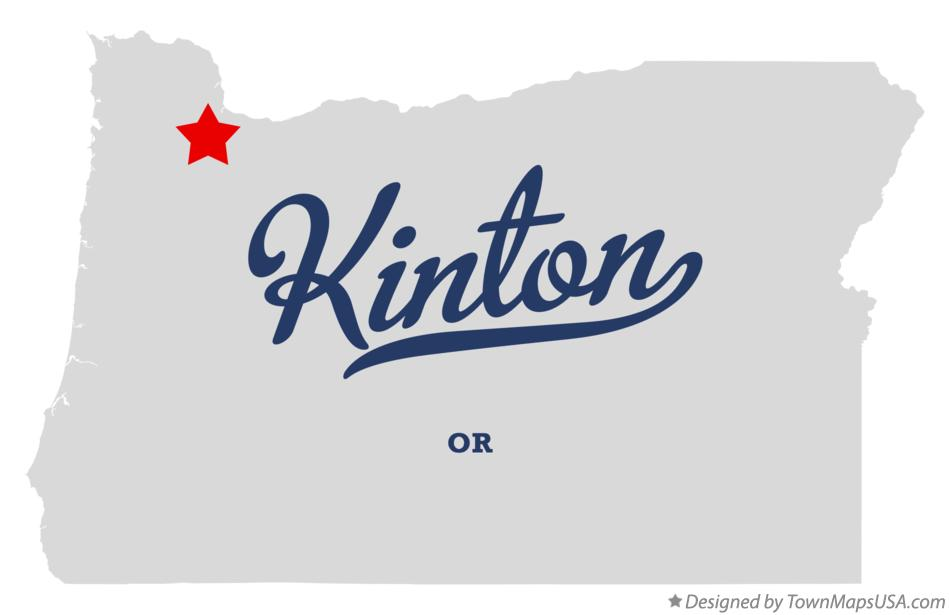 Map of Kinton Oregon OR