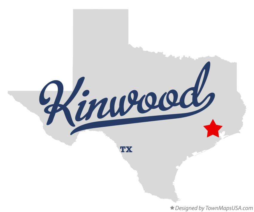 Map of Kinwood Texas TX