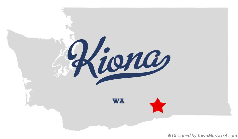 Map of Kiona Washington WA