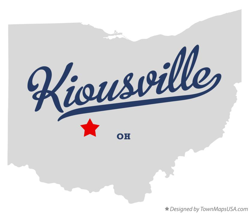 Map of Kiousville Ohio OH